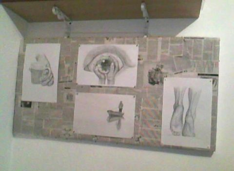 newspapers + glue + some of my drawings by Rrimuna