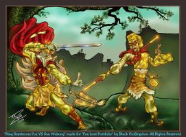 Septimous Fox VS Wukong Color by BlackUniGryphon