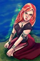 Red witch - Adely Ellenbah by Keleus