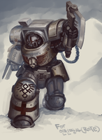 Apothecary in Terminator armor by kimplate