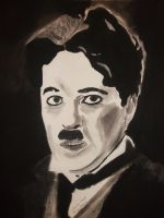 Charlie Chaplin in pastels by astrogoth13