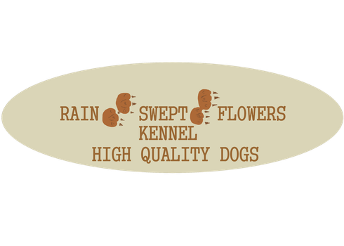 RAINSWEPT FLOWERS KENNELS LOGO by RainsweptFlowersK