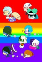 Chibi Arrancars Playtime by KingofBeastsGrimmjow