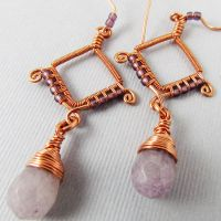 Copper and Purple Quartz by sylva
