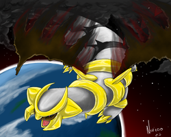 Surreal Sky :Giratina: by Nanasschevelu