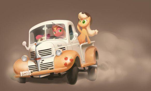 Apple Truck by BlueDrg