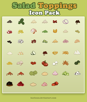 Salad Toppings Pixel Icon Pack by Karisean