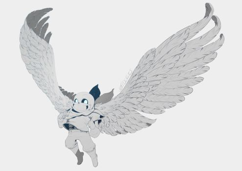 Winged Blueberry by v0idless