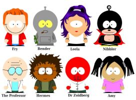 Futurama South Park by MooseCake