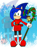 Sonica Merry Christmas by SonicaSpeed