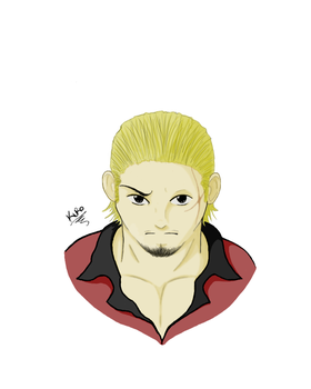 Tesshou bust colored by YumiCrossfire