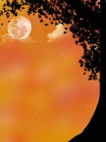 Starry Night 2 Orange by SimplyBackgrounds