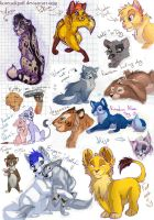 OMG Gift scetches and random a by kotenokgaff