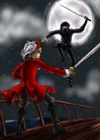 Pirate vs Ninja APH by TriaElf9