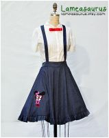 Minnie Nerd rtero suspender skirt by Lameasaurus-etsy