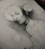 Moleskine Page wip by AaronGriffinArt