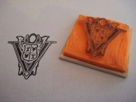 Volturi Crest rubber stamp by dragonflycurls
