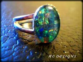 Mosiac Opal Ring II by Klarenden