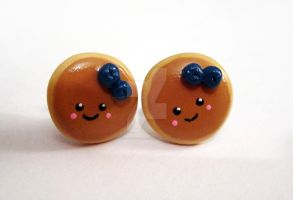 Blueberry Pancake Earrings by mAd-ArIsToCrAt