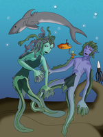 Fishie People by I-Major-In-Magick