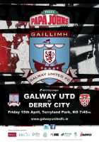 Galway United vs Derry Poster by morganobrienart