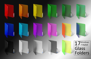 Windows 7 ColoredGlass Folders by Bonscha
