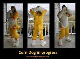 Corndog in progress by stuffedpanda-cosplay
