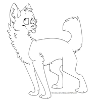 FREE WOLF LINEART OMG by Catatouillee