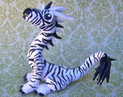 Zebra Dragon by DaniClayCreations