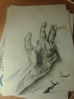 My hand, live drawing by lorenzo96bn