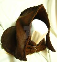 Heavy Suede Cowl and Hood by OfTheGodsBlood