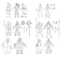 Characters 1 by Gleb-Vo