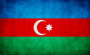 Azerbaijan Grunge Flag by think0