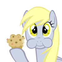 Derpy Eats A Muffin For Your Enjoyment by SirPonyLancelot