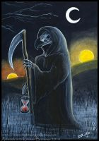 Gryphon Tarot - Death by silvermoonnw