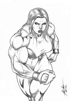 She Hulk Walking. by fabio018