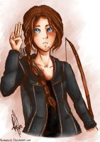The hunger games: Katniss by kimbolie12