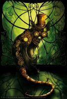 Steampunk Cat by senyphine