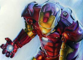 Iron Man by LornaKelleherArt
