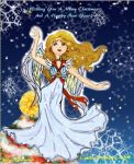 Christmas Angel Card by goddess-of-the-moon1