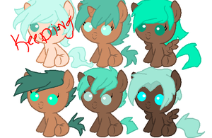 Baby Pony Batch 2 CLOSED by CrystalClusterStable