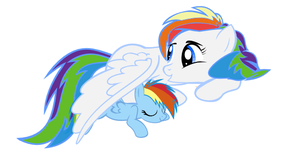 Rainbow Dash with Mother by selecteddash