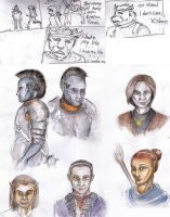 Oblivion sketches by Halwen