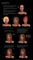 How I Paint Hair by gwproject