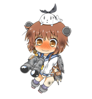 Yukikaze Chibi Damaged Version by GreenTeaNeko