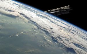 Earth Horizon with the UNSC Infinity! V.2 by MarcusSciberras