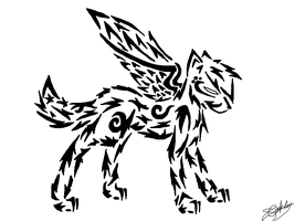 Another Tribal Wolf! by MidnightShadow88
