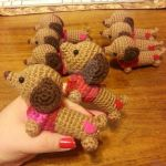 Valentine's Day Dachshund Doxie Amigurumi 1 by Spudsstitches