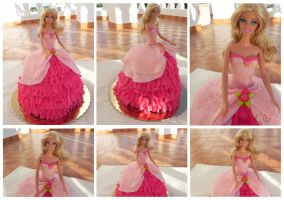 Barbie cake by Cogumelah