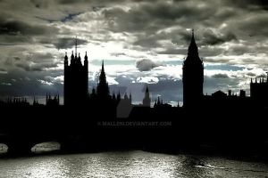 London skyline by Malleni